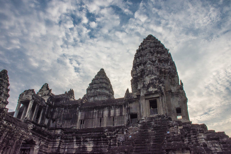 Angkor, Angkor Wat, Cambodia, building, cloud, sky, temple, tower, weather