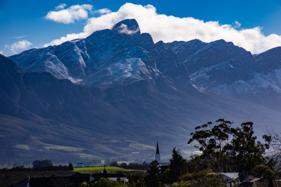 Tulbagh, landscape, mountain, snow, tree, weather