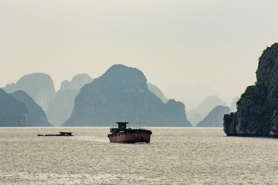 Halong Bay, Vietnam, karst, sea, sea stack, seascape